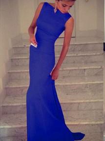 Купить синее платье в пол в интернет магазине недорого
