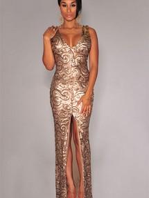 Блестящее платье большой размер
