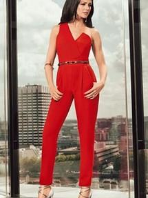 434debf82385 Купить красный вечерний женский комбинезон недорого наложенным ...