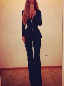 Синяя юбка черная блузка в москве