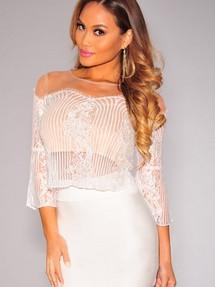 Розовая юбка белые чулки #11
