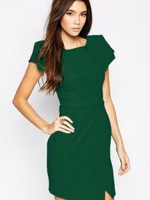 Платье зеленое обтягивающее