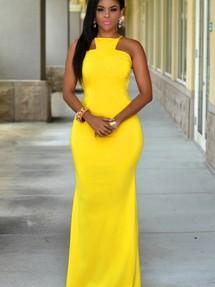 Купить желтое длинное макси платье недорого наложенным платежом в ... 29aaf6b6a4f