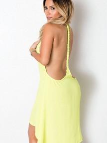 d6569f29271 Купить желтое платье с открытой спиной недорого наложенным платежом ...