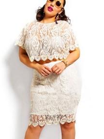 Кружевные платья для полных женщин