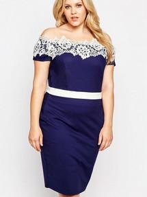 Платья с открытыми плечами больших размеров