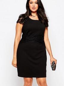 Черное платье больших размеров