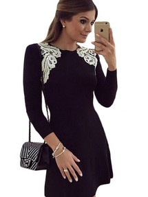 Купить офисное платье с рукавом