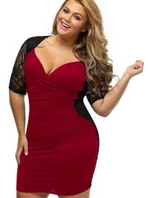 d3fbf4e2576a17a Купить красное платье больших размеров: для полных, наложенным ...