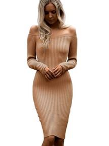 4544998c81d Купить бежевое обтягивающее платье недорого наложенным платежом в ...