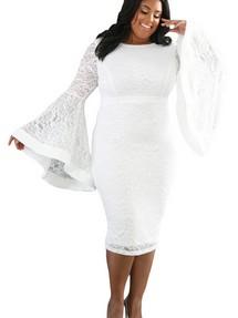 e758c2952312130 Купить гипюровое платье футляр с длинным рукавом недорого наложенным ...