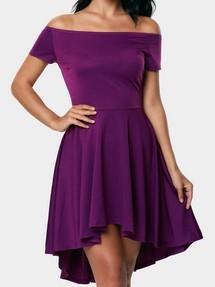 03fdac455880 Купить фиолетовое коктейльное платье недорого наложенным платежом в ...