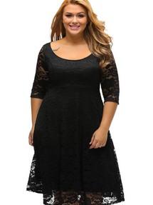 b94b32ac821 Купить платье трапеция большого размера  для полных