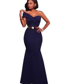 2e47b8bfda3 Купить синее длинное в пол платье  русалка  недорого наложенным ...