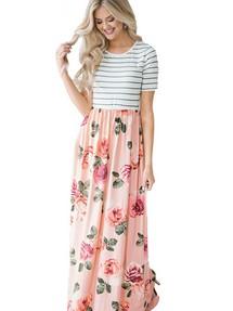 Купить длинное в пол платье в полоску недорого наложенным платежом в ... 8da1e870fb8