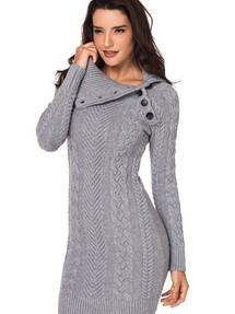 Купить теплое зимнее вязаное платье недорого наложенным платежом в ... 25bfc9600b0