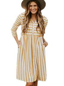 c131a4da8a9 Быстрый просмотр · Белое в оранжевую полоску повседневное платье-рубашка