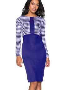 582c6126f28 Купить платье с принтом  гусиная лапка  недорого наложенным платежом ...
