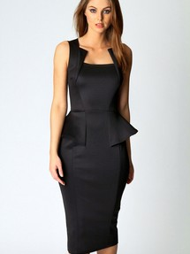 Фото черного платья с баской