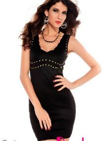 135fc70b15c0 Купить короткое мини платье без рукавов со стразами недорого ...