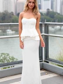 Белые платья с баской фото